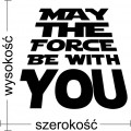May the force be with you naklejka na ścianę