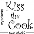 Kiss the cook naklejka do kuchni