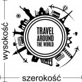 Travel around the world naklejka na ścianę podróże