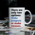 Make progress or make excuses kubek