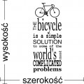 The bicycle is a simple solution naklejka na ścianę