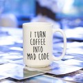 Kubek programisty i turn coffee into mad code duży 450 ml
