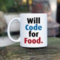 Will code for food kubek dla programisty normalny 330 ml