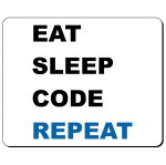 Eat Sleep Code Repeat podkładka