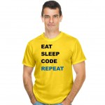 Eat Sleep Code Repeat koszulka