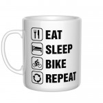 Eat Sleep Bike Repeat kubek