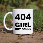 404 Girl not found kubek