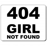 404 Girl not found podkładka