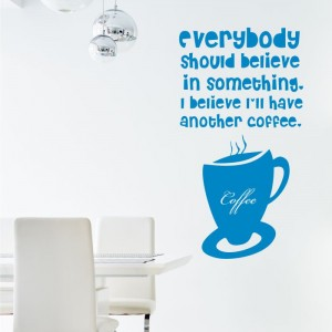 I believe in coffee naklejka