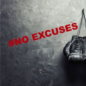 # No excuses naklejka