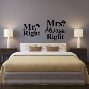 Mr. Right Mrs. Always Right naklejka