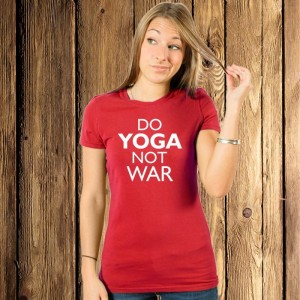 Do yoga not war koszulka