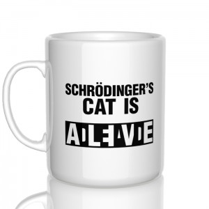 Schrodinger's cat is dead/alive kubek