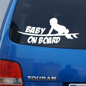 Baby on board deska surfingowa naklejka