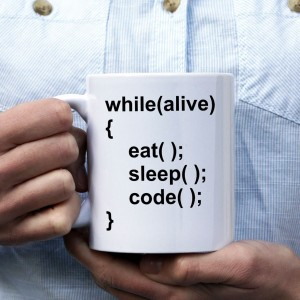 While alive, eat, sleep, code kubek