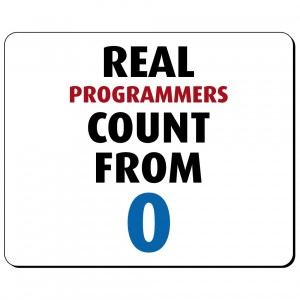 Real programmers count from 0 podkładka