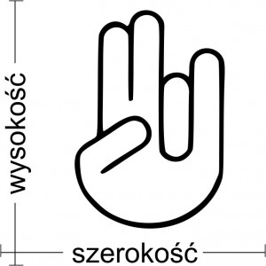 Shocker Hand naklejka