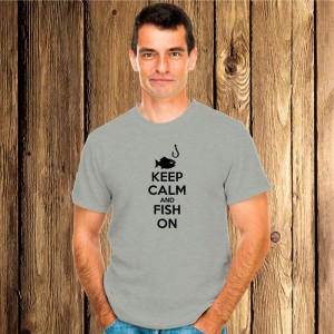 Keep Calm and Fish On koszulka