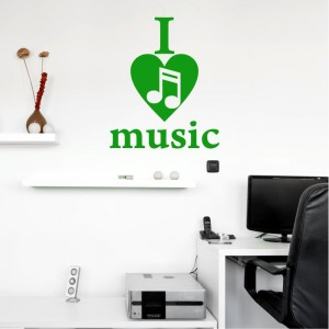 I love music naklejka