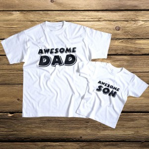 Awesome Dad awesome Son koszulki dla taty i syna