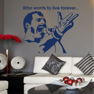 Freddie Mercury who want's to live forever naklejka