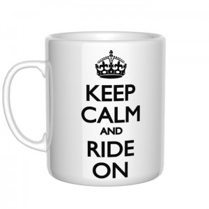 Keep Calm and Ride On kubek