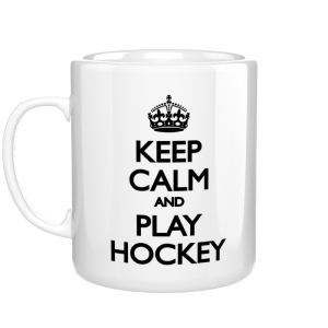 Keep Calm and Play Hockey kubek