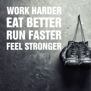 Work harder eat better... naklejka