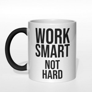 Work smart not hard kubek