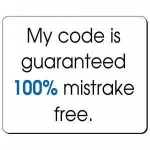 My code is  guaranteed 100% mistrake free podkładka