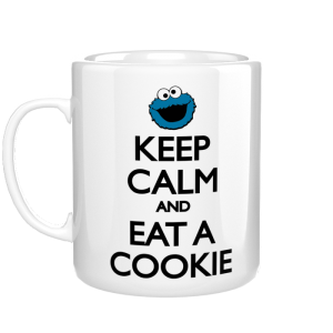 Keep Calm and Eat a Cookie kubek