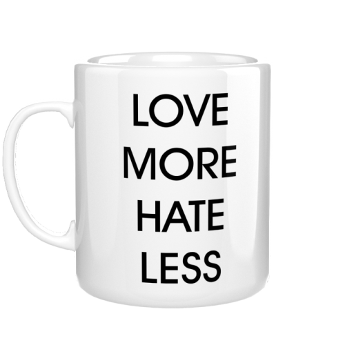 Kubek love more hate less
