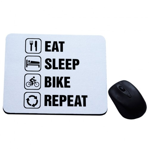 Eat Sleep Bike Repeat podkładka pod mysz