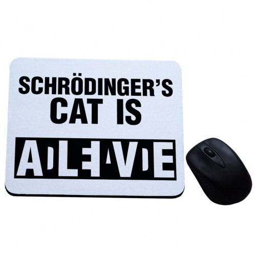 Schrodinger's cat is dead alive podkładka pod mysz