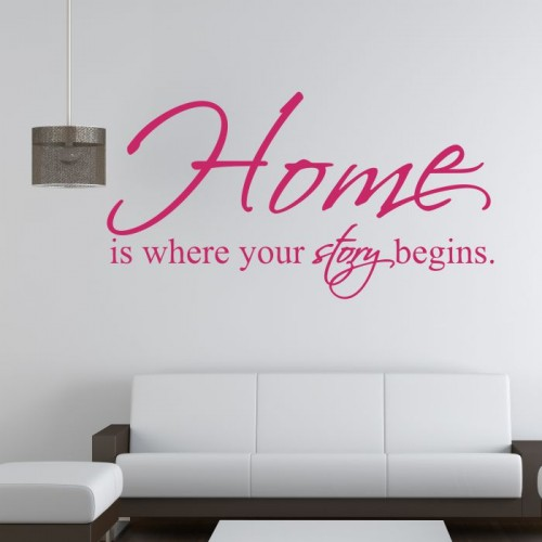 Home is where your story begins naklejka na ścianę
