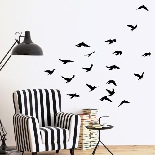 Ptaki Naklejki Na ścianę Zwierzęta Mistickers