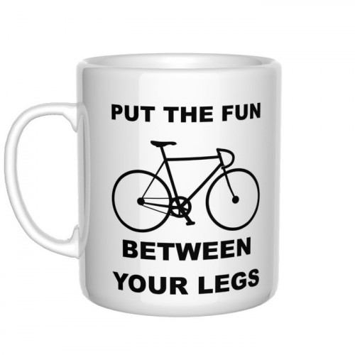 Put the fun between your legs kubek rowerzysty