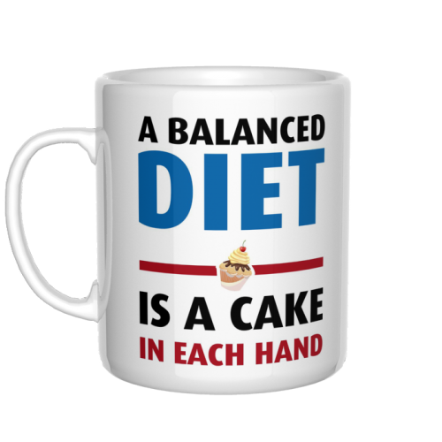 A balanced diet is a cake kubek