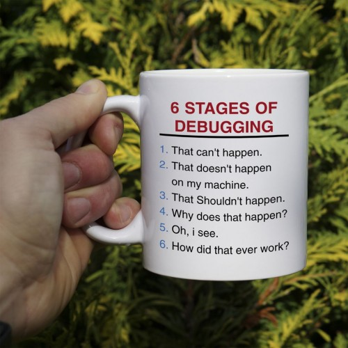 Kubek 6 stages of debugging normalny 330 ml