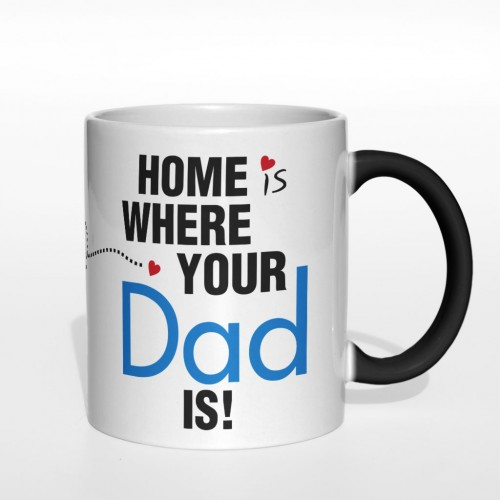 Home is where your Dad is kubek magiczny 330 ml druga strona