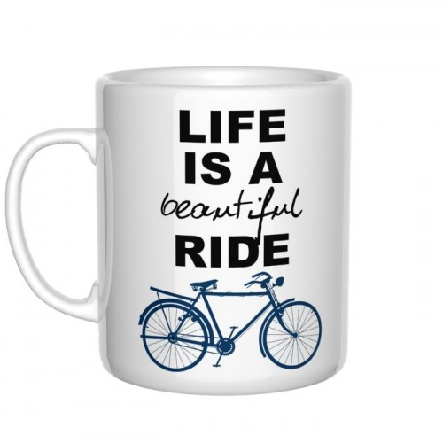 Life Is a Beautiful Ride kubek rowerzysty