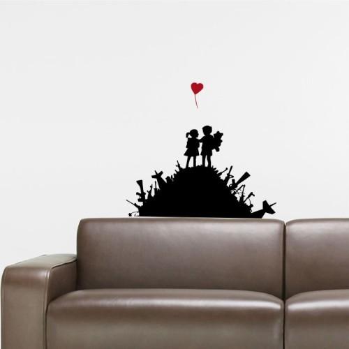 Naklejka Scienna Banksy Naklejka Mistickers