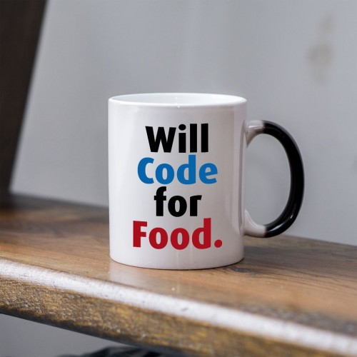 Will code for food kubek dla programisty magiczny 330 ml