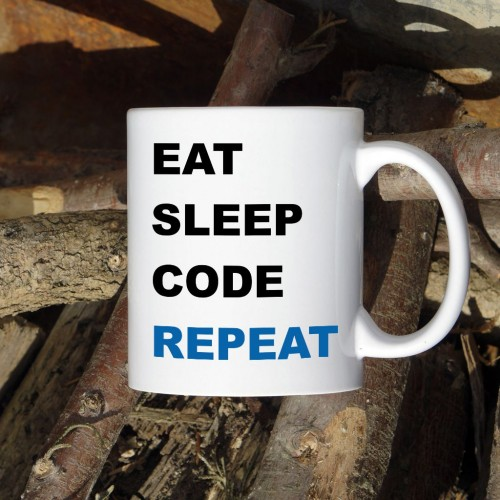 Kubek programisty Eat Sleep Code Repeat normalny 330 ml