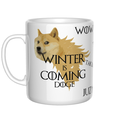 Kubek Winter is coming Doge Wow!