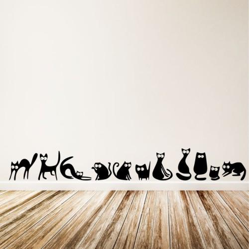 Koty Naklejki Na ścianę Zwierzęta Mistickers