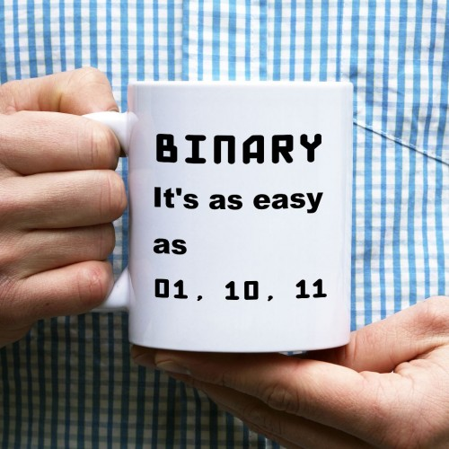 Kubek programisty BINARY, it's as easy as 01, 10, 11 normalny 330 ml