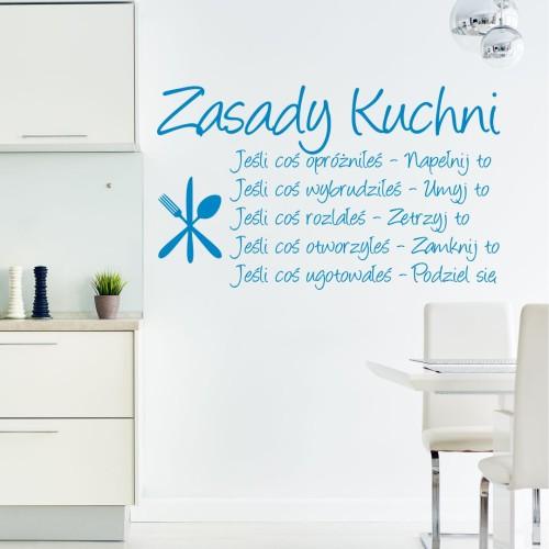 Zasady Kuchni Naklejka Na ścianę Do Kuchni Mistickers
