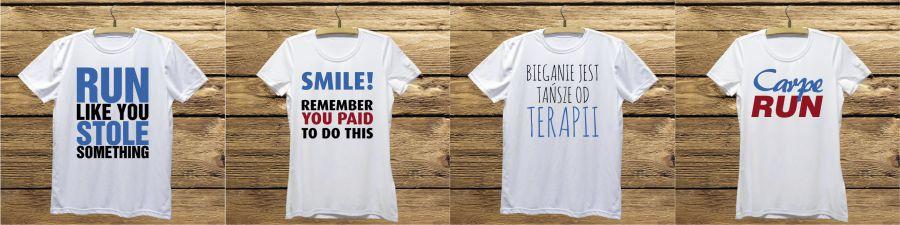 Koszulki do biegania z nadrukiem oryginalne i zabawne