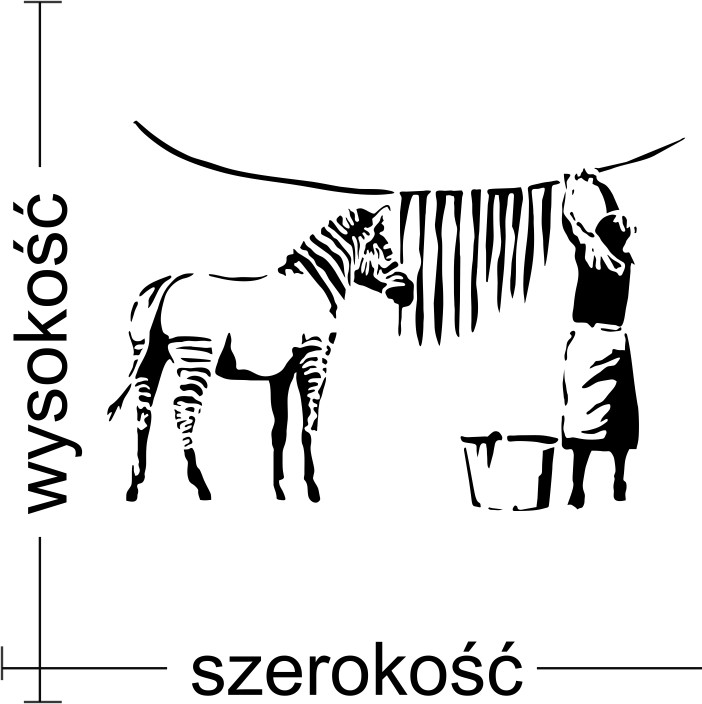 Naklejka Scienna Paski Zebry Mistickers